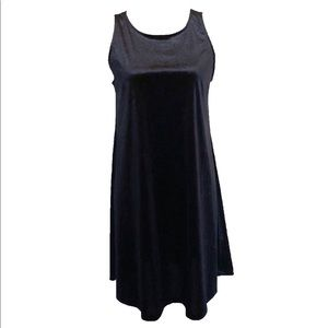 Old Navy Medium Black Velvet Like Shift Dress